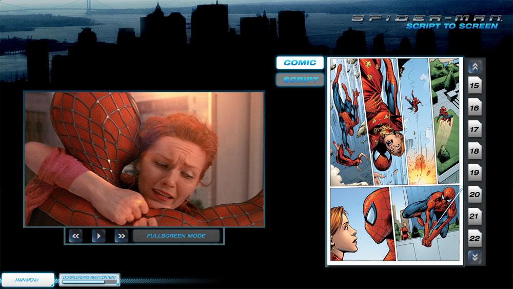 Spiderman BluRay Script to Screen