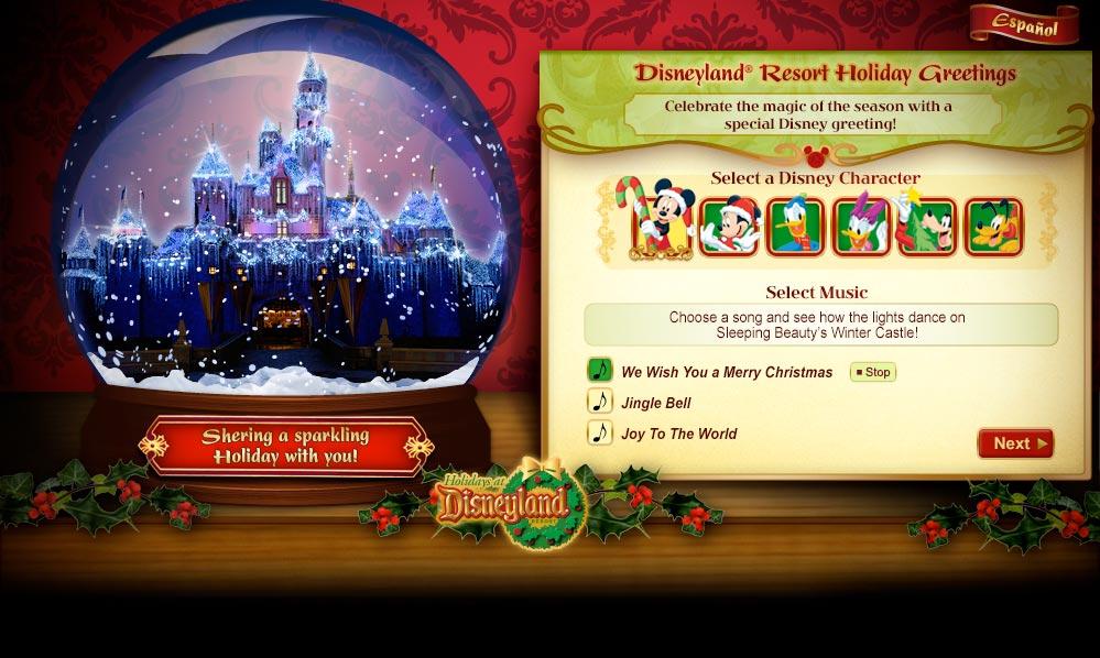 Disney Holiday Cards